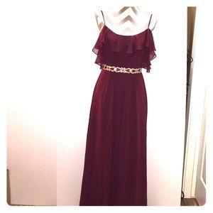 Wine David's  bridal dress F19508